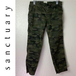 BOGO SALE - Sanctuary Camo Skinny Pants Raw Hem